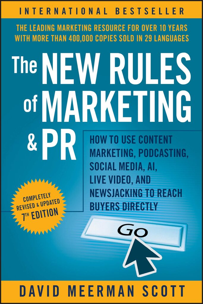 The New Rules of Marketing & PR by David Meerman Scott book cover