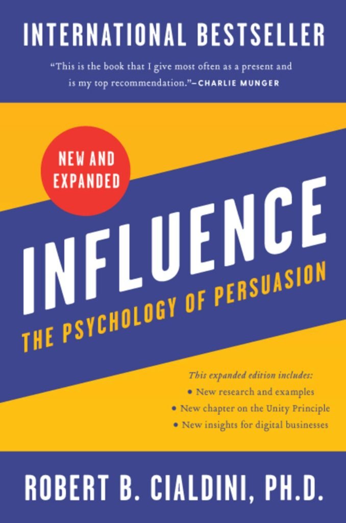 Influence: The Psychology of Persuasion by Robert B Cialdini book cover