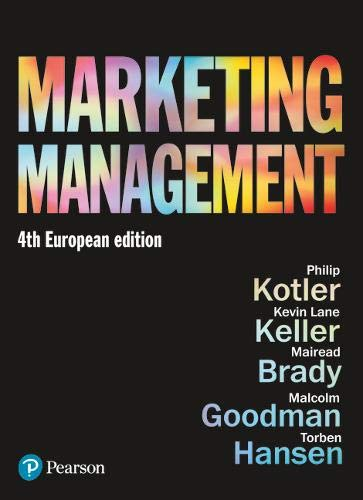 Marketing Management by Philip T. Kotler (and others) book cover